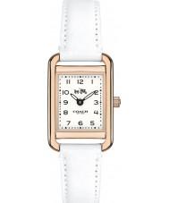 Coach 14502298 Ladies Thompson White Leather Strap Watch
