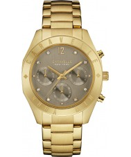Caravelle New York 44L191 Ladies Boyfriend Gold Chronograph Watch