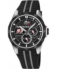 Lotus L18259-4 Mens Marc Marquez Black Rubber Strap Watch