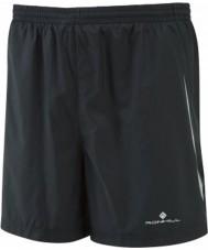 "Ronhill RH-001004R009-XL Mens Advance All Black Running 5"" Shorts - Size XL"
