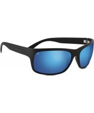 Serengeti Pistoia Satin Black Polarized 555nm Blue Sunglasses