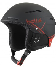Bolle 31211 B-Fun Soft Black and Red Ski Helmet - 54-58cm