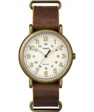 Timex TW2P85700 Mens Weekender Brown Leather Strap Watch