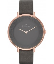 Skagen SKW2216 Ladies Ditte Grey Leather Strap Watch