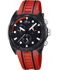 Lotus 18159-5 Mens Black Red Rubber Chronograph Watch