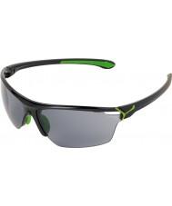 Cebe Cinetik Large Shiny Black Green Sunglasses