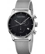 Calvin Klein K2G27121 Mens City Silver Steel Mesh Chronograph Watch