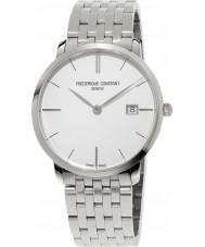 Frederique Constant FC-220S5S6B Slimline Gents Silver Steel Bracelet Watch