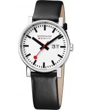 Mondaine A627-30303-11SBB Evo Big Black Leather Strap Watch