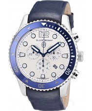 Elliot Brown 929-008-L06 Mens Bloxworth Blue Leather Chronograph Watch