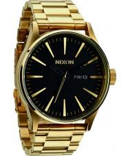 Nixon A356-510 Mens Sentry SS All Gold Black Watch