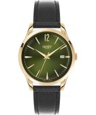 Henry London HL39-S-0100 Chiswick Moss Black Leather Strap Watch