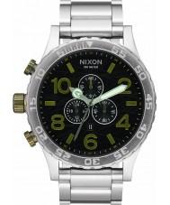 Nixon A083-2222 Mens 51-30 Silver Steel Bracelet Chronograph Watch