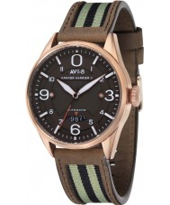 AVI-8 AV-4040-05 Mens Hawker Harrier II Two Tone Leather Strap Watch with Extra Black Nylon Strap