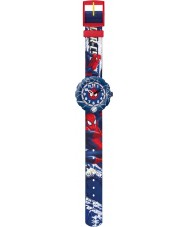 Flik Flak FLSP001 Boys Spider-Cycle Blue Watch