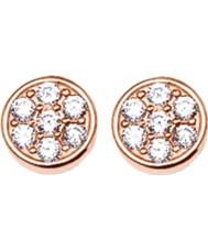 Thomas Sabo H1848-416-14 Ladies Sparkling Circles Zirconia Pave Rose Gold Stud Earrings