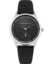 French Connection FC1272BB Ladies Black Leather Strap Watch