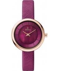 Obaku V146LXVQRD Ladies Purple Calf Leather Strap Watch