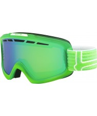 Bolle 21467 Nova II Matte Green and White - Green Emerald Ski Goggles