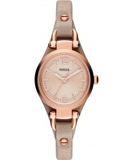 Fossil ES3262 Ladies Georgia Sand Leather Strap Watch