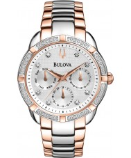 Bulova 98R177 Ladies Diamond Two Tone Steel Chronograph Watch
