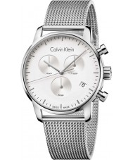 Calvin Klein K2G27126 Mens City Silver Steel Mesh Chronograph Watch