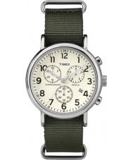 Timex Originals TW2P71400 Weekender Slip Thru Green Chrono Watch