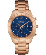 Caravelle New York 44L192 Ladies Boyfriend Rose Gold Chronograph Watch