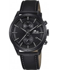 Lotus L18317-1 Mens Chrono Black Leather Chronograph Watch
