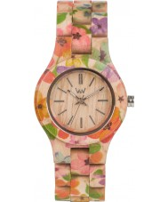 WeWOOD CRISSFLOWBEIGE Criss Flower Beige Wood Bracelet Watch