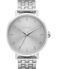 Nixon A1090-1920 Ladies Arrow All Silver Steel Bracelet Watch