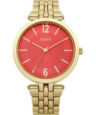 Oasis B1510 Ladies Orange and Gold Tone Bracelet