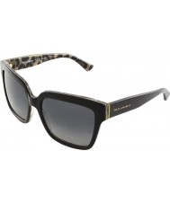 Dolce and Gabbana DG4234 57 Enchanted Beauties Top Black Leo 2857T31 Polarized Sunglasses