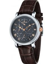 Thomas Earnshaw ES-8048-02 Mens Longcase Master Calendar Brown Crock Leather Strap Watch