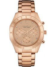 Caravelle New York 44L189 Ladies Boyfriend Rose Gold Chronograph Watch