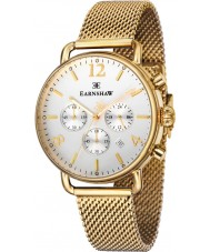 Thomas Earnshaw ES-8001-22 Mens Investigator Gold Plated Chronograph Watch