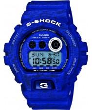 Casio GD-X6900HT-2ER Mens G-Shock World Time Blue Heathered Print Resin Strap Watch