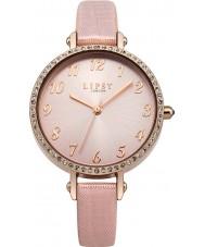 Lipsy LP400 Ladies Stone Set Pink PU Leather Strap Watch