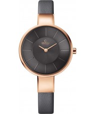 Obaku V149LXVJRJ Ladies Grey Calf Leather Strap Watch