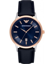 Emporio Armani AR2506 Mens Classic Blue Leather Strap Watch