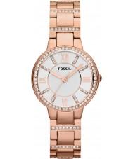 Fossil ES3284 Ladies Virginia Rose Gold Plated Bracelet Watch