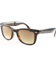 RayBan RB4105 50 Folding Wayfarer Light Tortoiseshell 710-51 Sunglasses