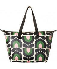 Orla Kiely 17RESTP131-7315 Ladies Stripe Tulip Print Spring Zip Shopper Bag