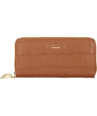 Fiorelli FS0866-TANCROC Ladies City New Tan Croc Zip Around Purse