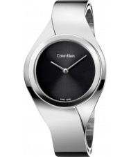 Calvin Klein K5N2S121 Ladies Senses Silver Steel Bangle Watch