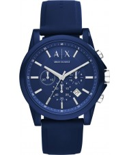 Armani Exchange AX1327 Sport Blue Silicone Chronograph Watch
