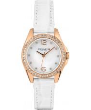 Coach 14502102 Ladies Tristen White Leather Strap Watch