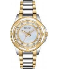 Bulova 98S140 Ladies Two Tone Steel Bracelet Watch