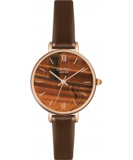 Lola Rose LR2036 Ladies Metallic Brown Leather Strap Watch