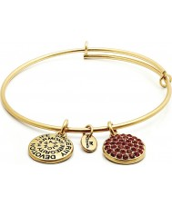Chrysalis CRBT0107GP 14ct Gold Plated Expandable Bangle with Ruby Swarovski Crystals